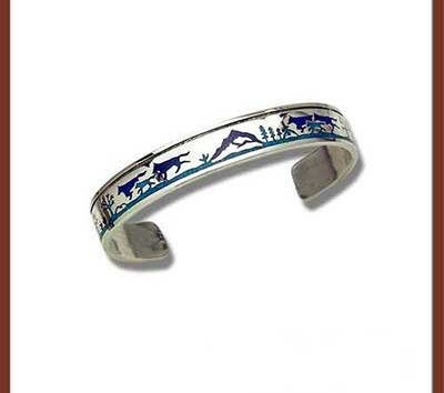 Bracelet with turquoise and lapis lazuli chipinlay-0