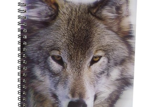 3D Wolf Picture Notebook-0